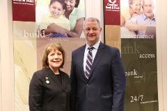 Kurt Kuta President and CEO and Honorable Evelyn Wilson President Kansas Bar Foundation